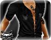 # satin black pop shirt