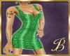 snake skin dress green