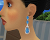 Blue Ruby Earrings