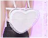 ☽ White Lace Heart Bag