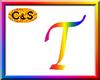 C&S Rainbow Letter T
