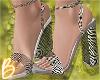 Sheer Zebra Print Heels