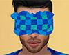 Teal Sleep Mask Plaid M