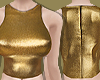 Gold Halter neck Top