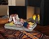 Autumn Fireplace Pillow