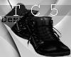 Unzipped boots