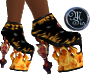 (MSis) Flame Skull boots
