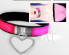 AT Pink+Red Neon Collar