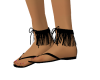 (mc) Black Fringe sandal