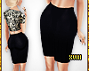 !Slim Black Pencil Skirt
