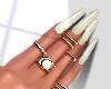 Pearl Nails & Rings