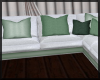 Mint and White Couch