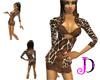 [JDC] Giraffe Skirt Suit