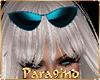 "P9)EVA""Teal Sun Glasses"
