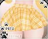 [Pets]Plaid skirt|Yellow