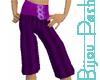 Purple Buckle Gauchos