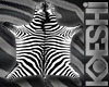 Realistic Zebra Rug