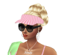 pink golf visor