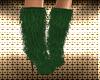 Green Xmas Cat Fur Boots