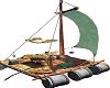 Jungle Beach Raft Animat