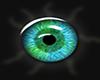 furry blue n green eye