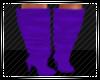 Purple Knee High Boots