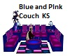 Blue and Pink Couch