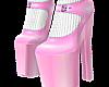 B! Pink Heels & Socks