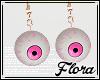 !F - Pink Eye Earrings