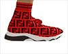 Fendi Red Sock Shoes