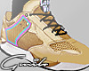 LoneWolf Gold Sneakers