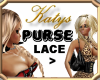 KATYS Purse black lace