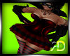 Witch Black Red Dress
