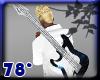 white blue star gitarr