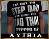 """a"""" Dad SteppedUp T Blk"""