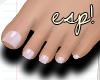 esp! Sweet pink feet