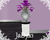 Purple Orchid Silver Urn