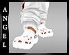 AJ!Crocs - White Plastic