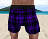 Purple PJ Shorts Plaid M