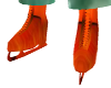mens orange ice skates
