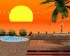 villa  con tramonto