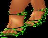(AL)Green Weave Heels