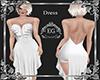 dress strass white
