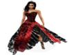 Black Silk Wedding Gown