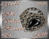 !a Blk Velvet Bracelet R