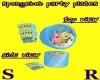 SPONGEBOB B-DAY  PLATES