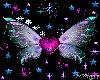flying heart butterflys