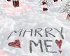 Marry Me Written In Snow