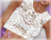 AM:: White Lace Top