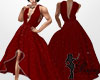 Dark Red Bling Gown